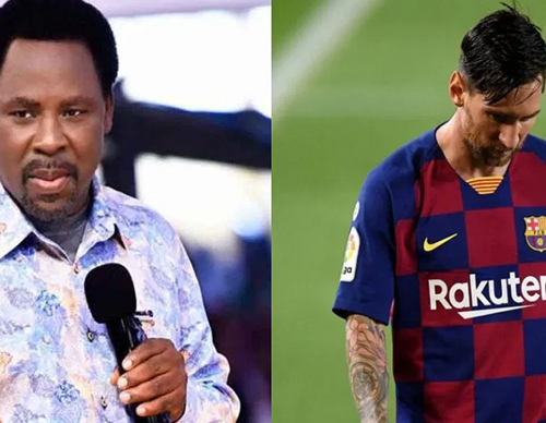 TB Joshua warns Messi against leaving Barcelona