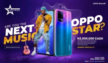 Are you Talented enough to become the Next OPPO Music Star? Stand a Chance to Win N3,000,000 Cash, OPPO Reno5F Smartphone, Recording Deal and other Prizes worth N5,000,000