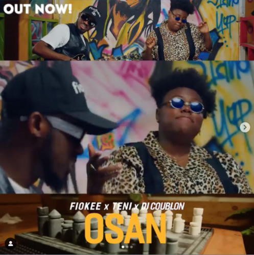 [Video] Fiokee x Teni – Osan (DJ Coublon)