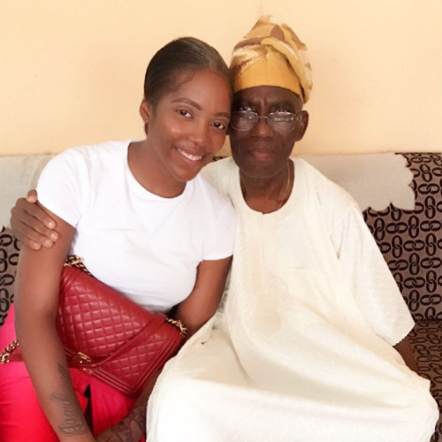 SAD! As Tiwa Savage Lost Her Father Early Hours Of Today (See Full Details)
