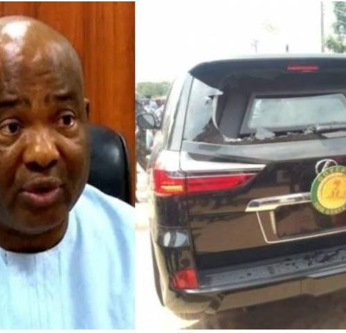 BREAKING: Governor Uzodinma Attacked By Youths In Imo State [PHOTOS]